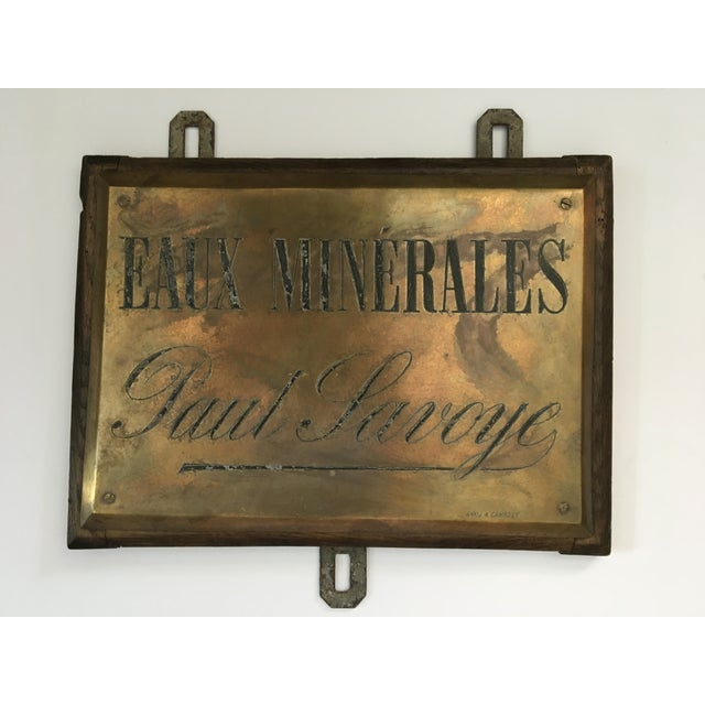 French Faux Minerales Mineral Water Advertising Sign For Sale - Image 13 of 13