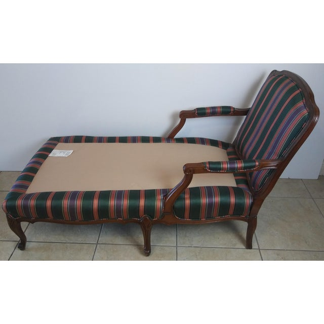 Textile Louis XV Style French Provincial Chaise Lounge For Sale - Image 7 of 11
