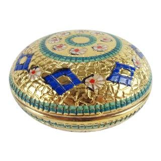 1960s Italian Ceramic Trinket Box Mosaic Savelli For Sale
