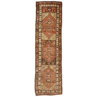 20th Century Turkish Oushak Hallway Runner - 2′9″ × 9′6″ For Sale