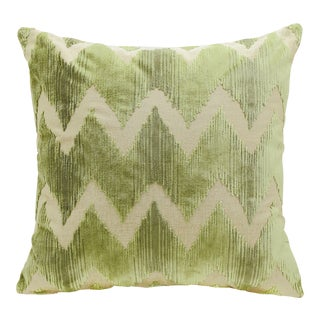 """Piper Collection Green Velvet """"Mary"""" Pillow For Sale"""