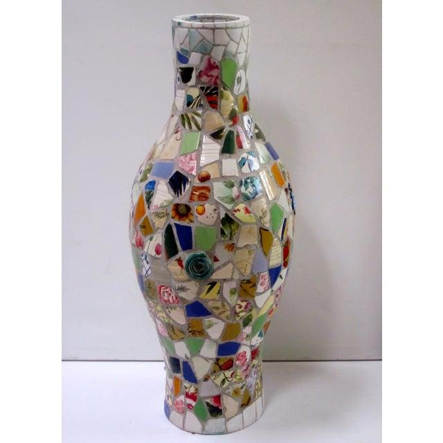 Large Handmade Mosaic Floor Vase Urn - Image 2 of 11