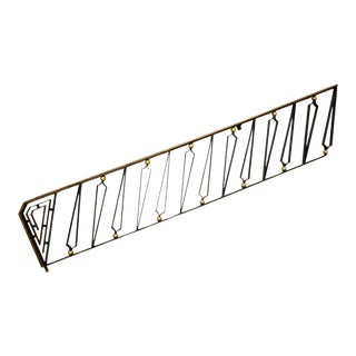 Mexican Modernist Hand Forged Gilded Iron Staircase Handrail by Arturo Pani For Sale