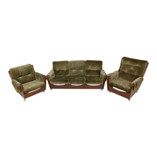 Mid Century 'Saddleback' Sofa and Lounge Chairs by G Plan For Sale