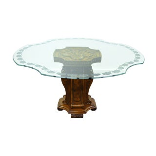 Mediterranean Style Pedestal Center Table For Sale