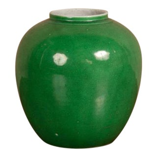 Apple Green Chinese Jar For Sale
