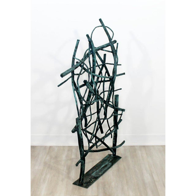 Contemporary Forged Painted Copper Metal Abstract Table Sculpture Robert Hansen For Sale - Image 4 of 9