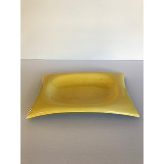 Vintage Mustard Yellow Two-Toned Dish by Red Wing Pottery Preview