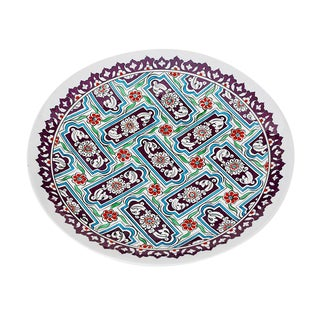 Traditional Turkish Iznik Pottery Platter For Sale