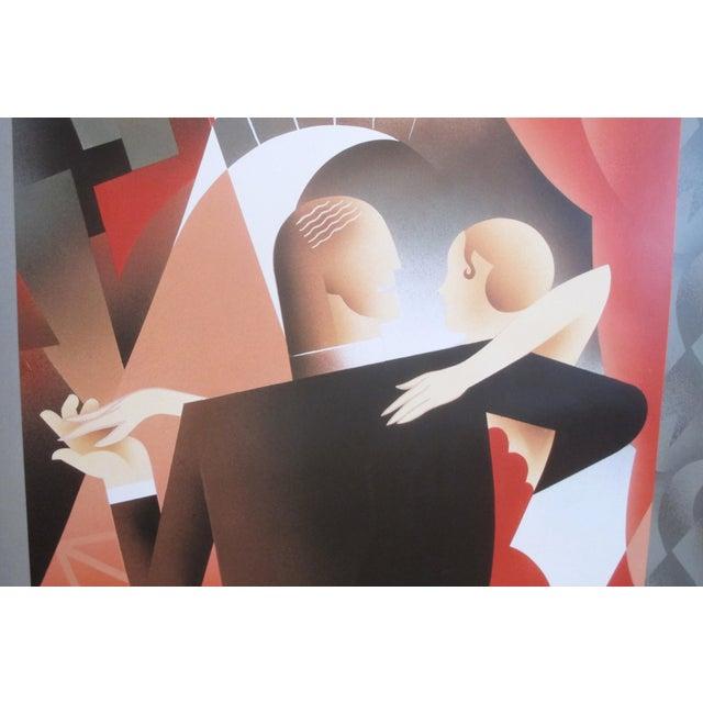 Art Deco 1991 Original Art Deco Exhibition Poster, Les Années 20 - l'Age Des Metropoles (Dancing Couple), for the Mmfa For Sale - Image 3 of 5