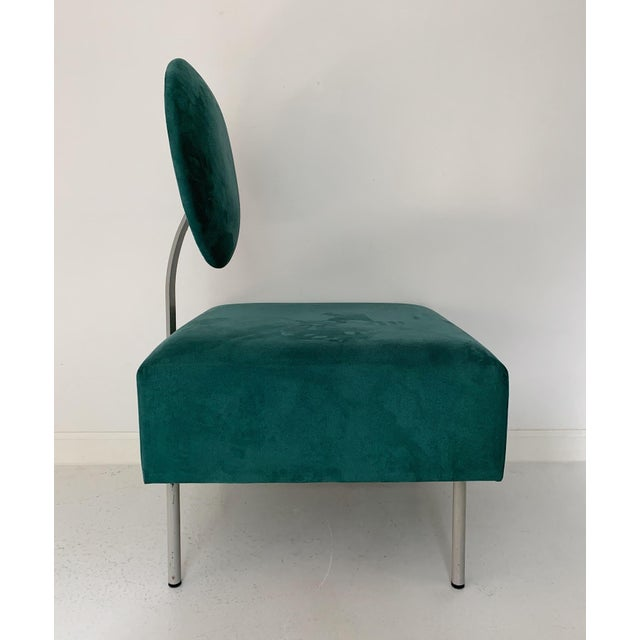 Contemporary 1980's Vintage Andreu World Contemporary Green Square Lounge Chair For Sale - Image 3 of 7