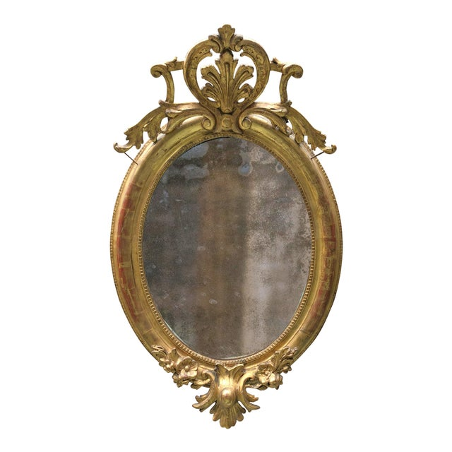 19th Century Ovale Mirror South of France For Sale - Image 11 of 13