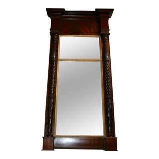 Antique Mahogany Mirror For Sale