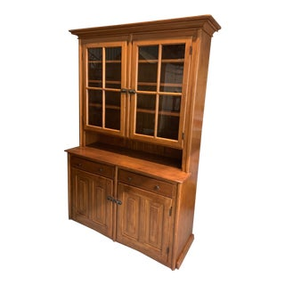 19th Century Step Back Hutch / China Cabinet For Sale