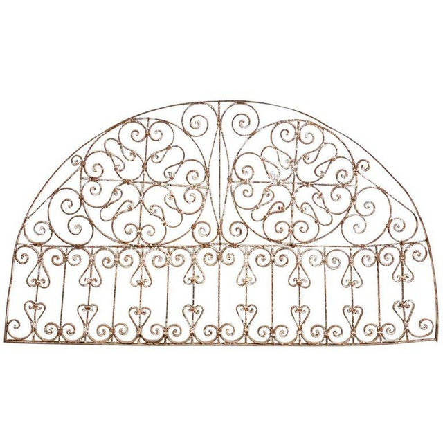 19th Century French Demilune Iron Transom Grille For Sale - Image 12 of 12
