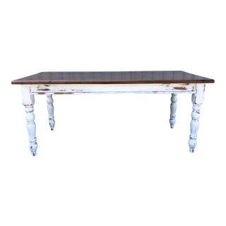 Country Style Pottery Barn Farm Table For Sale