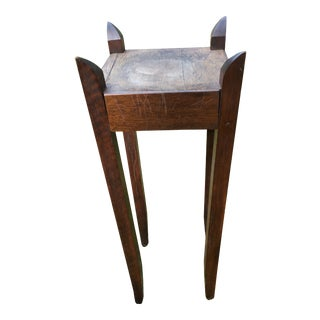 Arts and Crafts Wood Plant Stand For Sale