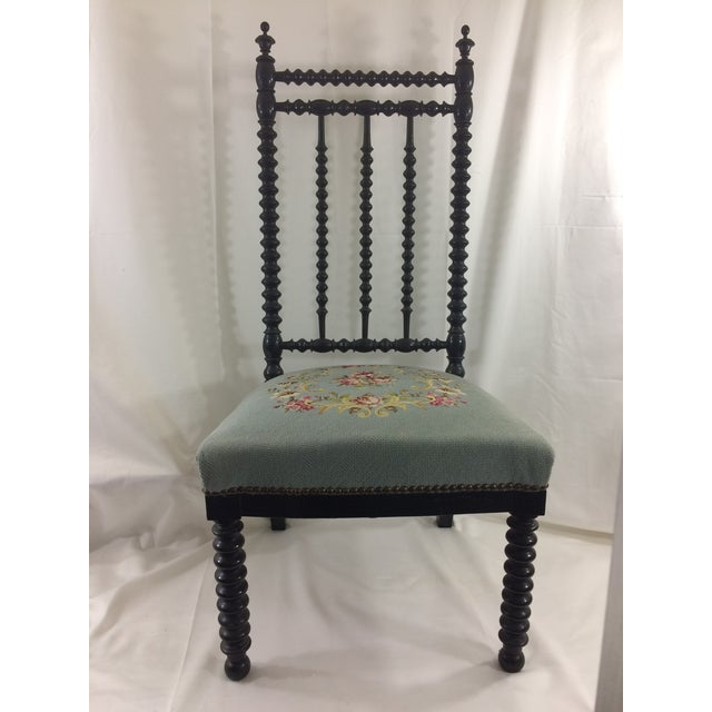 Napoleon Ebonized Spindle Chair For Sale - Image 9 of 9