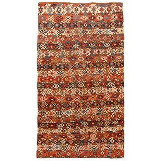 Antique Mid-19th Century Caucasian Kilim For Sale