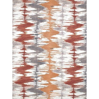 Sample, Scalamandre River Delta Embroidery, Sienna For Sale