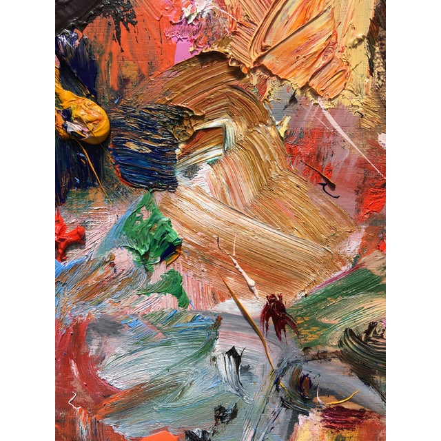 Abstract 'Flight of the Bumblebee' Abstract Oil Painting by Sean Kratzert For Sale - Image 3 of 5