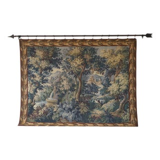 Gobelins Halluin French Flanders Verdure Tapestry With Hardware