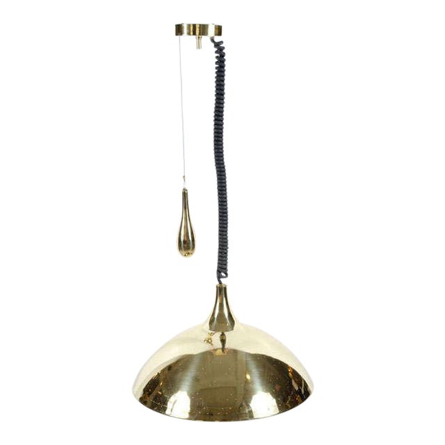 Finlandia Brass Counter-Weight Pendant after Paavo Tynell for Litecraft Mfg Corp For Sale