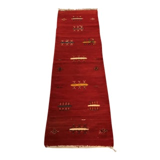 Red Moroccan Runner For Sale