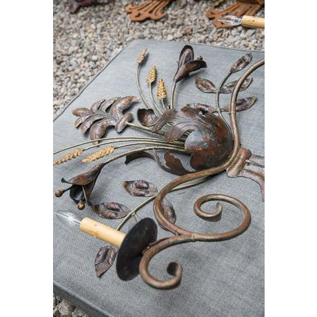 French Sculptural Wall Sconce - Image 3 of 4
