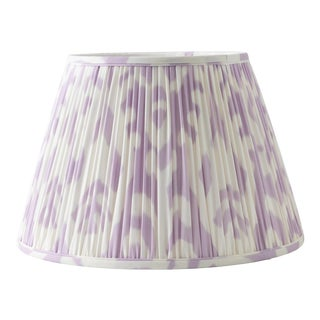"Soft Ikat in Lavender 18"" Lamp Shade, Lavender For Sale"