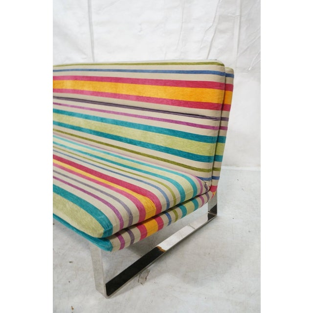 Contemporary Set of 2 Kho Liang Ie for Artifort Awning Striped Chenille Sofas For Sale - Image 3 of 8