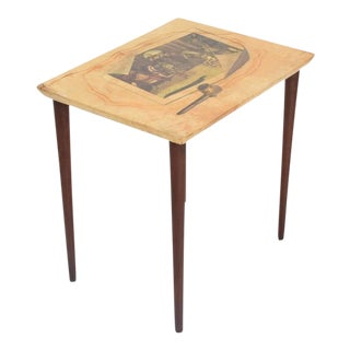 Italian Mid-Century Aldo Tura Side Table For Sale