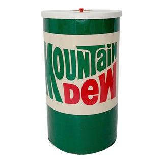 Vintage Mountain Dew Beverage Cooler Display For Sale