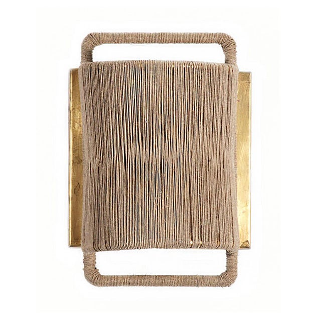 Hand woven wall sconce