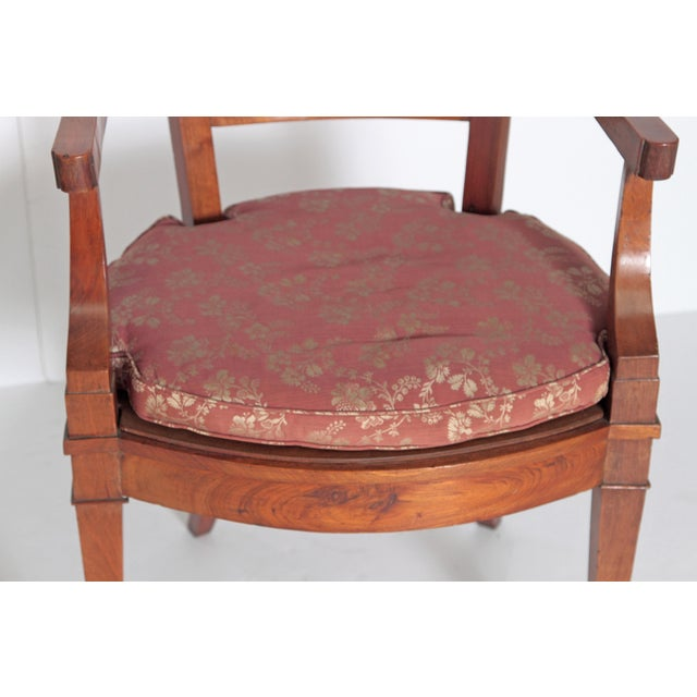 Pair of Italian Neoclassical Armchairs For Sale - Image 10 of 13