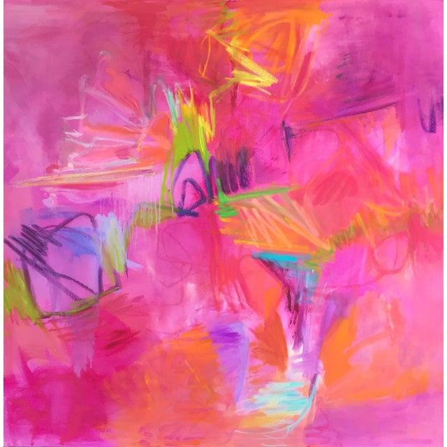 """""""Martini"""" Large Abstract Oil Painting by Trixie Pitts - Image 1 of 5"""