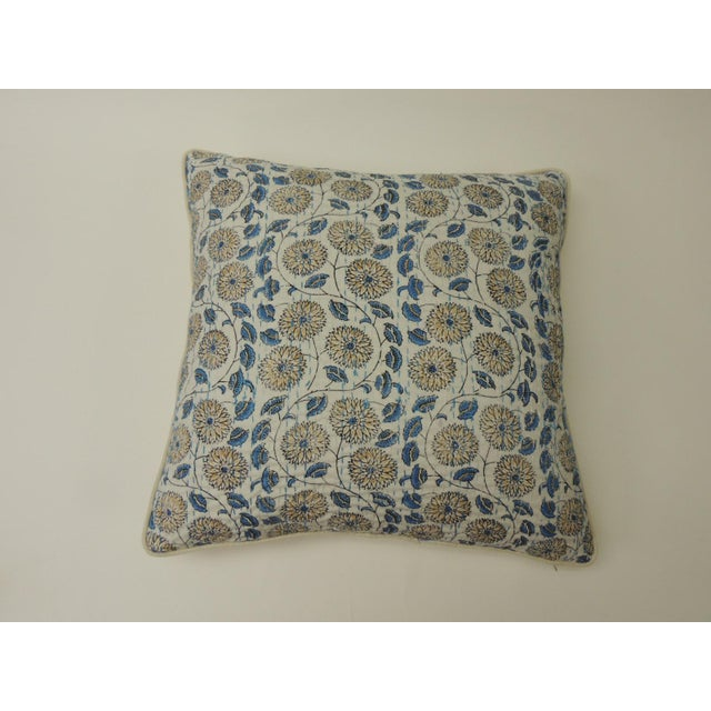 """Indian Quilted """"Lotus"""" Decorative Pillows For Sale In Miami - Image 6 of 6"""