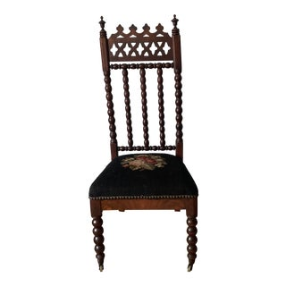 Mid 19th Century a Victorian Bobbin Turned Walnut Chair For Sale