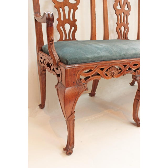 18th century Continental Chair Back Settee in the George II Taste For Sale - Image 4 of 9