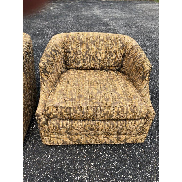 """Bernhardt Bernhardt """"Flair"""" Club Chairs - a Pair For Sale - Image 4 of 11"""