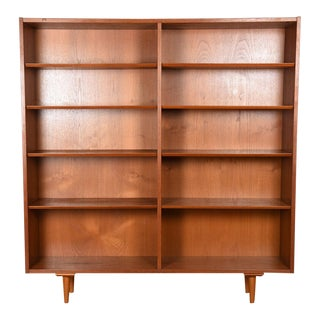 Condo-Sized Danish Teak Bookcase For Sale