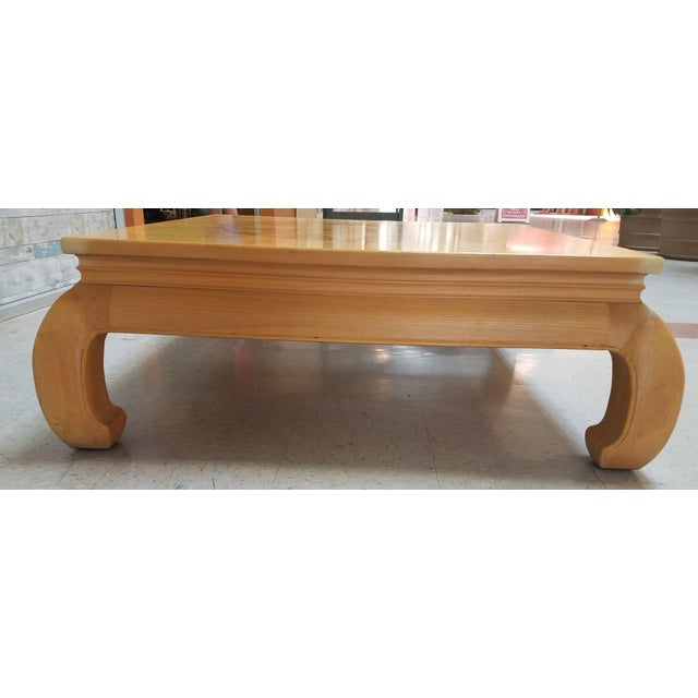 Wood Asian Ming Henredon Burl Wood Coffee Table For Sale - Image 7 of 12