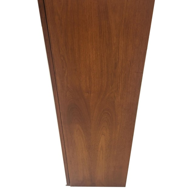 Mid Century Burled Wood and Teak Wall Hanging Cabinet - Image 5 of 7