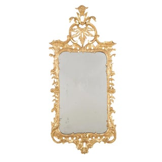 George II Period Rococo Gilded Open-Work Mirror For Sale