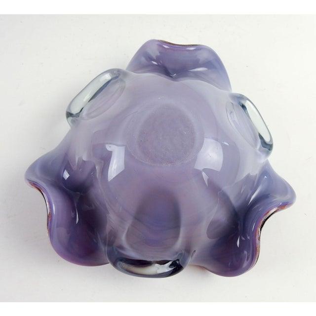 Contemporary Lavender Murano Copper Flake Bowl For Sale - Image 3 of 5