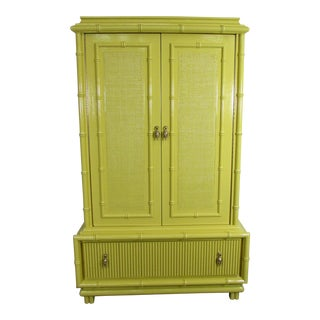 American of Martinsville Lacquered Faux Bamboo Chinoiserie Chest