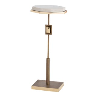 Contemporary Arteriors Home Fitzgerald Brass Accent Table