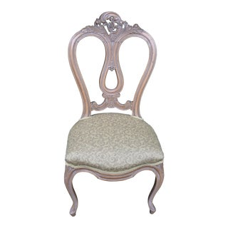 1920s Antique French Louis XV Ladies Vanity / Desk Chair For Sale