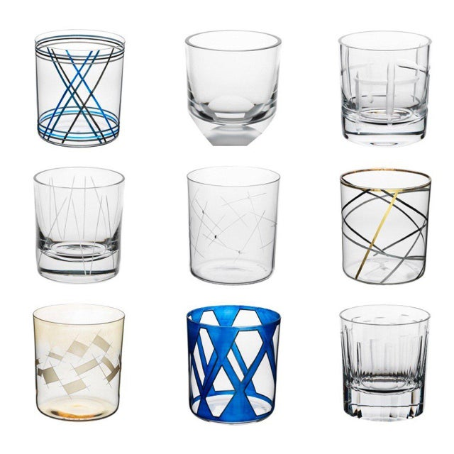 """Mouth-blown cut and etched glass tumbler designed by Martino Gamper as part of the """"Passionswege"""" project. There are 53..."""