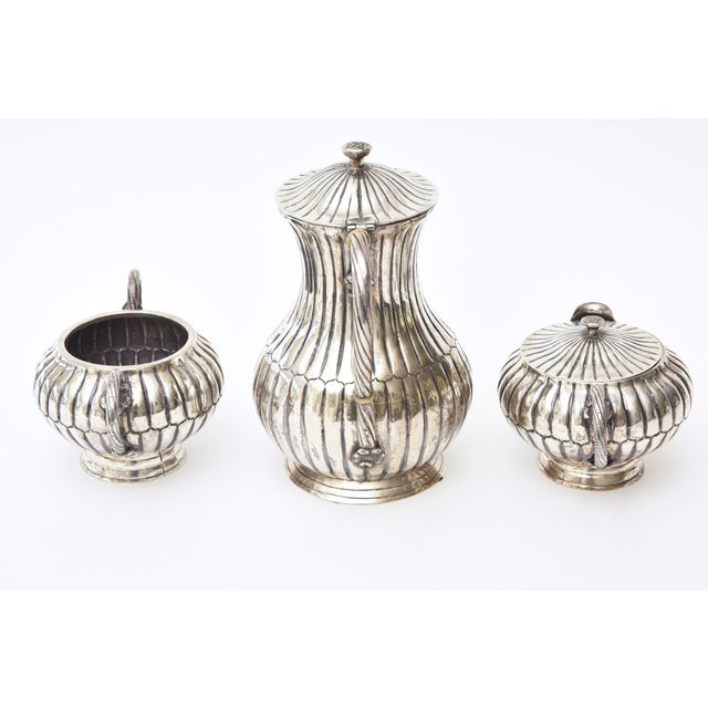Sanborn Mexican Sterling Sterling Silver Hallmarked Sanborn Tea/Coffee Service For Sale - Image 4 of 10